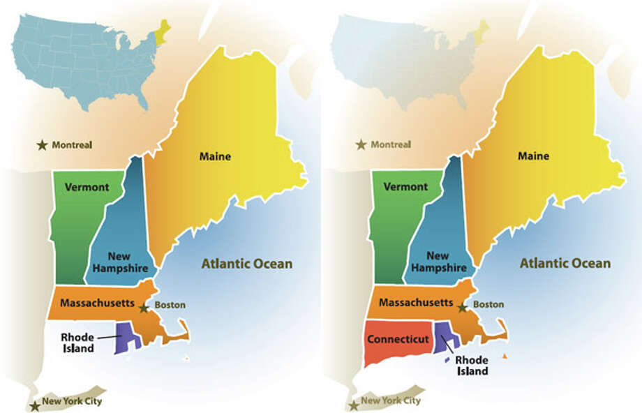 Malloy Puts Conn Back On New England Map Connecticut Post - Conneticut map