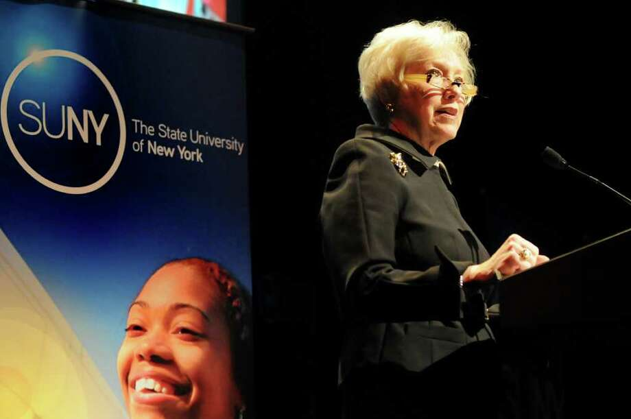 SUNY Chancellor Nancy Zimpher delivers State of the University Address on Wednesday, Jan. 19, 2011, at The Egg in Albany, N.Y. She took no media questions after the event. (Cindy Schultz / Times Union) Photo: Cindy Schultz