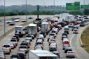 Including the occasional scene such as this, San Antonio commuters lost about 30 hours to traffic delays in 2009. That's half what Houston drivers wasted stuck in traffic that year.