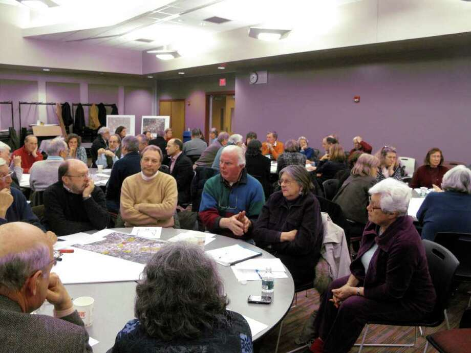 Roundtable discussions in full force. Photo: Contributed Photo;Paresh Jha Staff Photo, Contributed Photo / New Canaan News