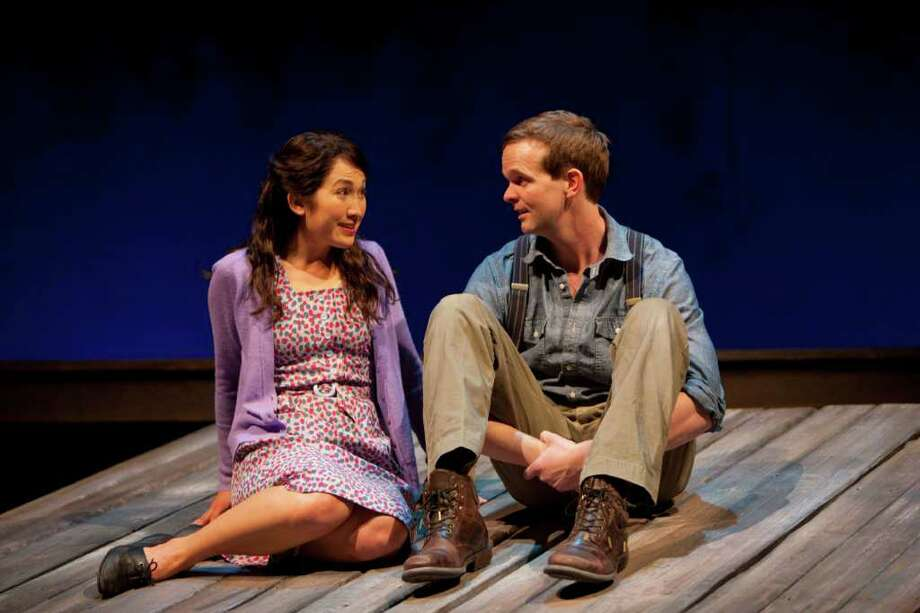 "Kimiye Corwin and Dashiell Evans are featured in the stage version of the best-selling novel ""Snow Falling on Cedars"" at Hartford Stage through Feb. 13. Photo: Contributed Photo / Connecticut Post Contributed"