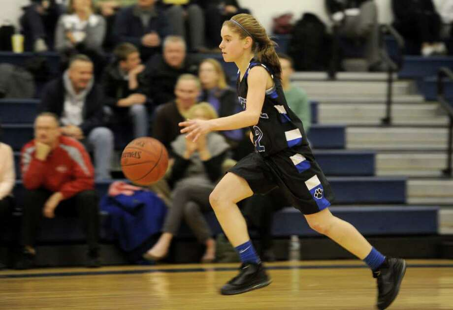 (3) Jess Bodgwicz, Bunnell basketball. The talented Bodgwicz, who went over the 1,000 point mark this season, was an all-star against New Fairfield. She recorded a triple-double in the 55-52 victory. Bodgwicz finished with 26 points, 10 rebounds, and 10 assists. Photo: Lindsay Niegelberg / Connecticut Post