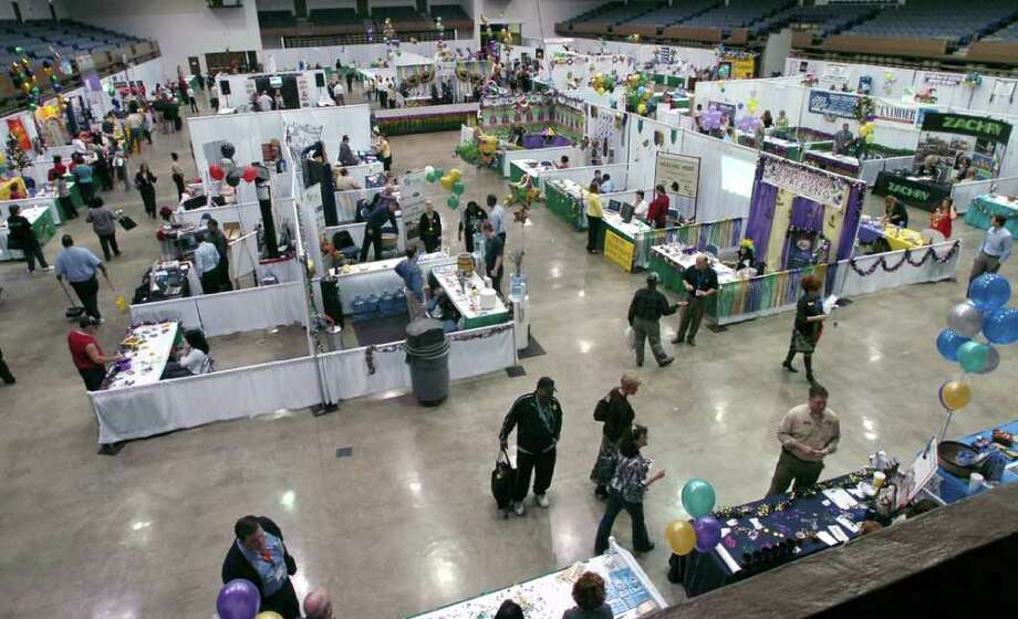 The Southeast Texas Business Expo in full swing in January, 2010 featuring  businesses and organizations from around the Beaumont and Port Arthur areas.  Dave Ryan/The Enterprise Photo: Dave Ryan / Beaumont