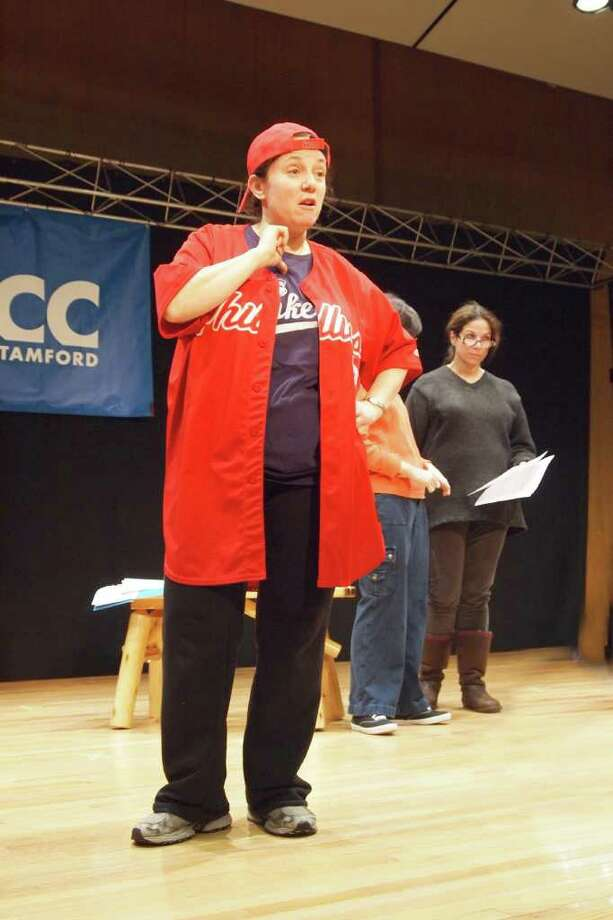 "Janice Steinberg of Stamford rehearses for the Stamford Jewish Community Center production of ""Free to Be ... You and Me."" Photo: Contributed Photo / Connecticut Post Contributed"