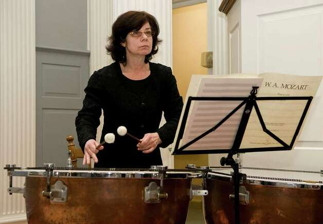 Timpanist judith hirschman performs with the stamford for Asian cuisine mohegan lake menu