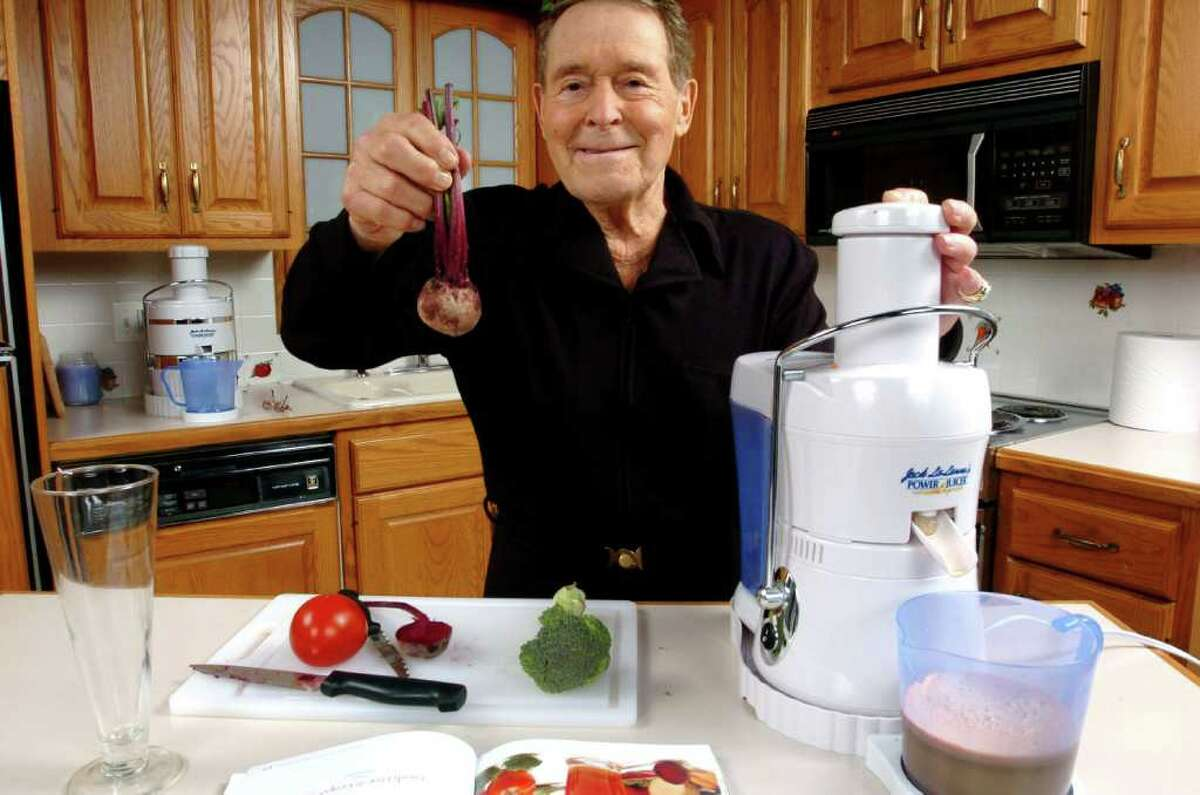 juliecooper KRT LIFESTYLE STORY SLUGGED: SRS-JACKLALANNE KRT PHOTOGRAPH BY PETER MONSEES/THE RECORD (October 25) Health expert Jack LaLanne is promoting the