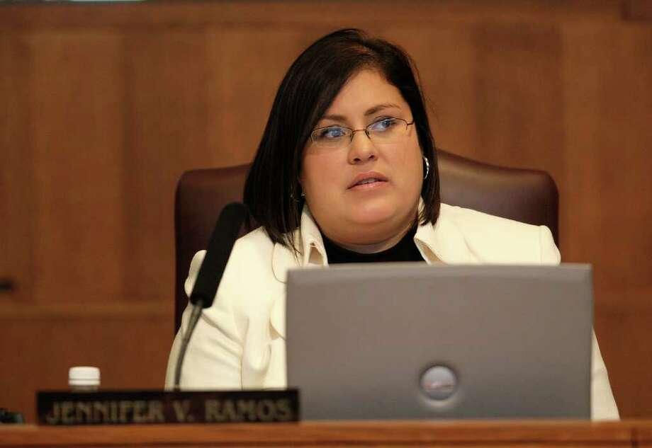 San Antonio City Council member Jennifer Ramos during a meeting at City Hall on Thursday, Feb. 5, 2009. JERRY LARA/glara@express-news.net Photo: JERRY LARA, SAN ANTONIO EXPRESS-NEWS / glara@express-news.net