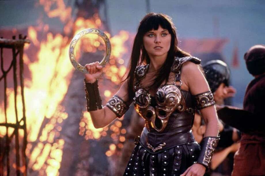 Television heroine Xena is largely viewed in a positive light because she stands up for herself and others. Photo: G. SHORT, HO / AP1996