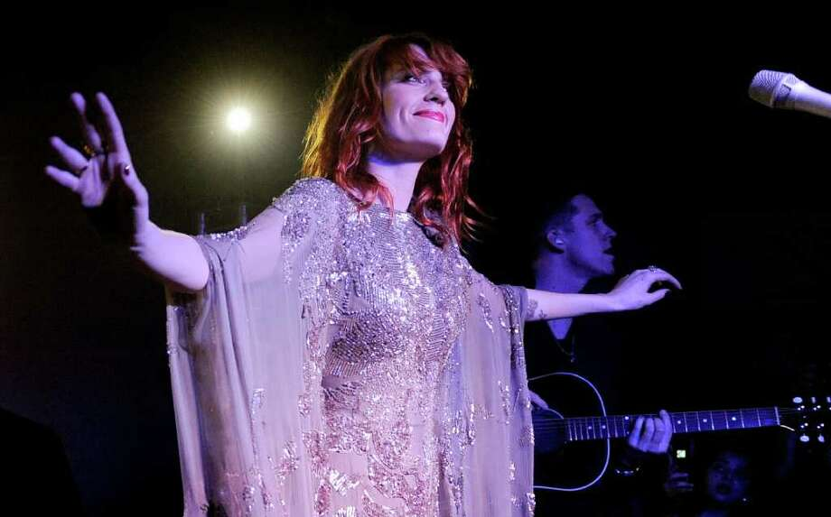 Florence Welch of the band Florence + The Machine performs at the Official Bing Bar After-Party at the 2011 Sundance Film Festival in Park City, Utah, Saturday, Jan. 22, 2011. Photo: AP