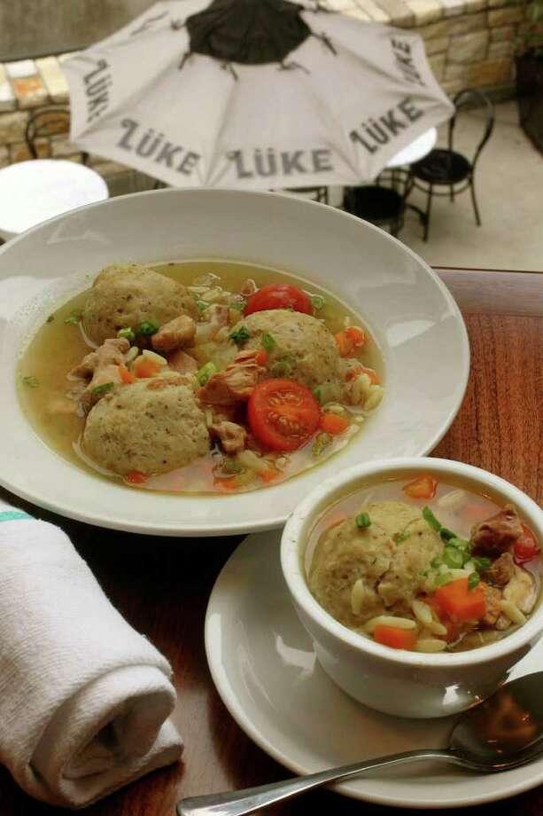 The matzo ball soup at Lüke. Photo: JOHN DAVENPORT, SAN ANTONIO EXPRESS-NEWS / jdavenport@express-news.net