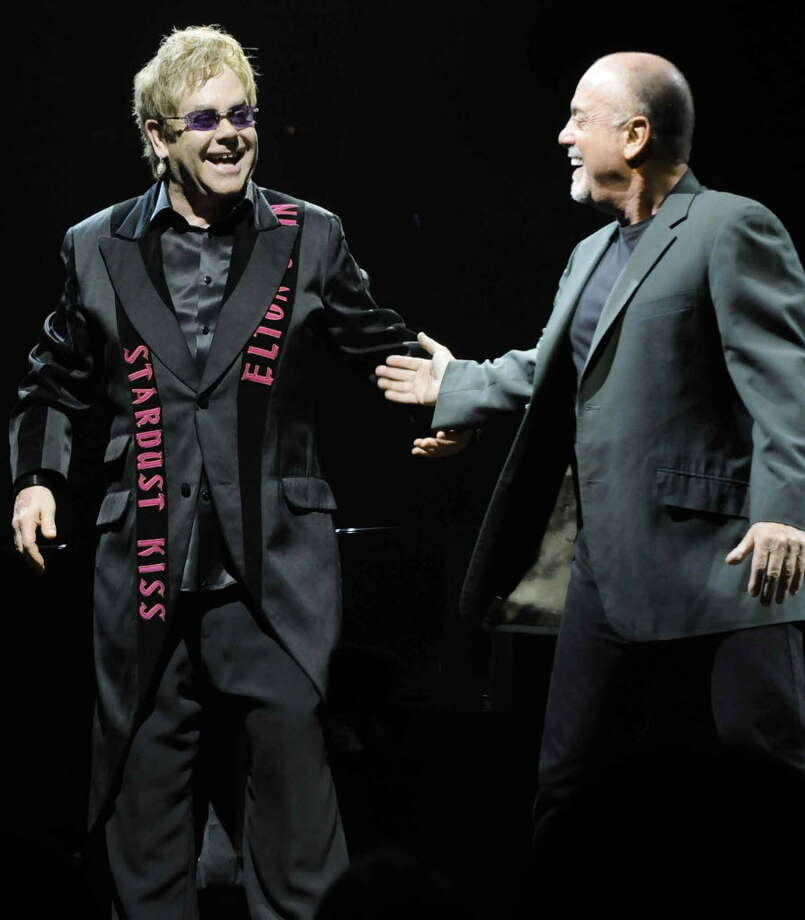 Rock 'n' roll legends Elton John and Billy Joel take the stage at the Times Union Center in Albany, New York, on March 11, 2010.(Michael P. Farrell/ Times Union archive)