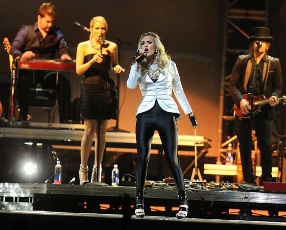 Carrie Underwood performs during a concert at the Times Union Center in Albany, NY on March 12, 2010. (Lori Van Buren / Times Union archive)
