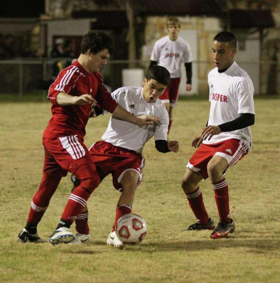 Jasper's boys soccer in action Photo: Jason Dunn