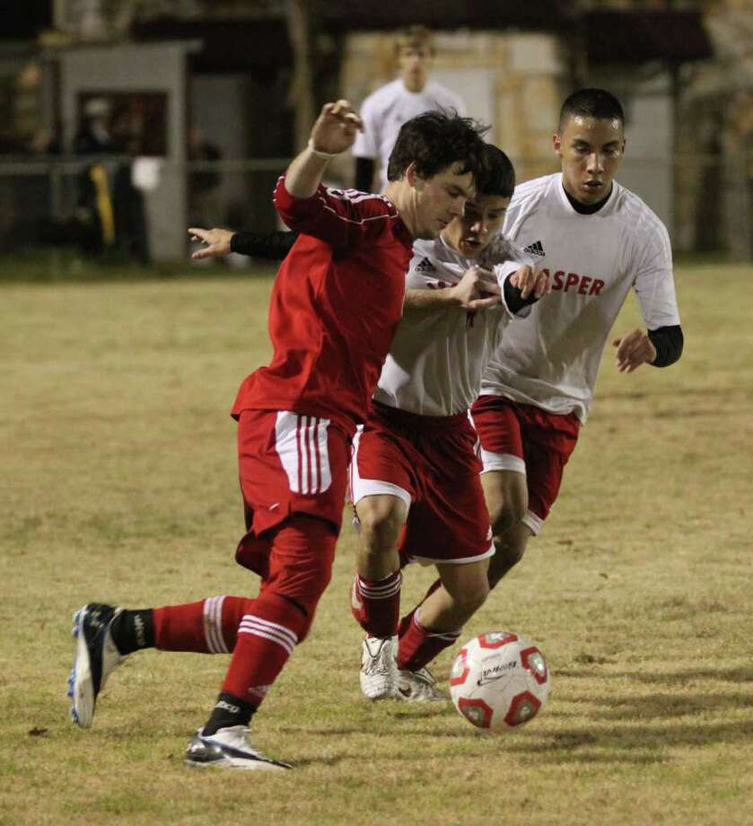 Jasper's boys soccer in action Photo: Jason Dunn