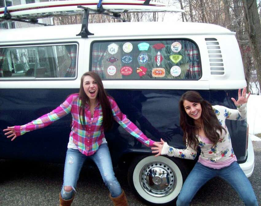 College student Lizzy Marola, of Torrington, Conn. won a 1978 Volkswagen Microbus - complete with surfboards - by submitting a photo of her butt in Hollister jeans in the clothing company's