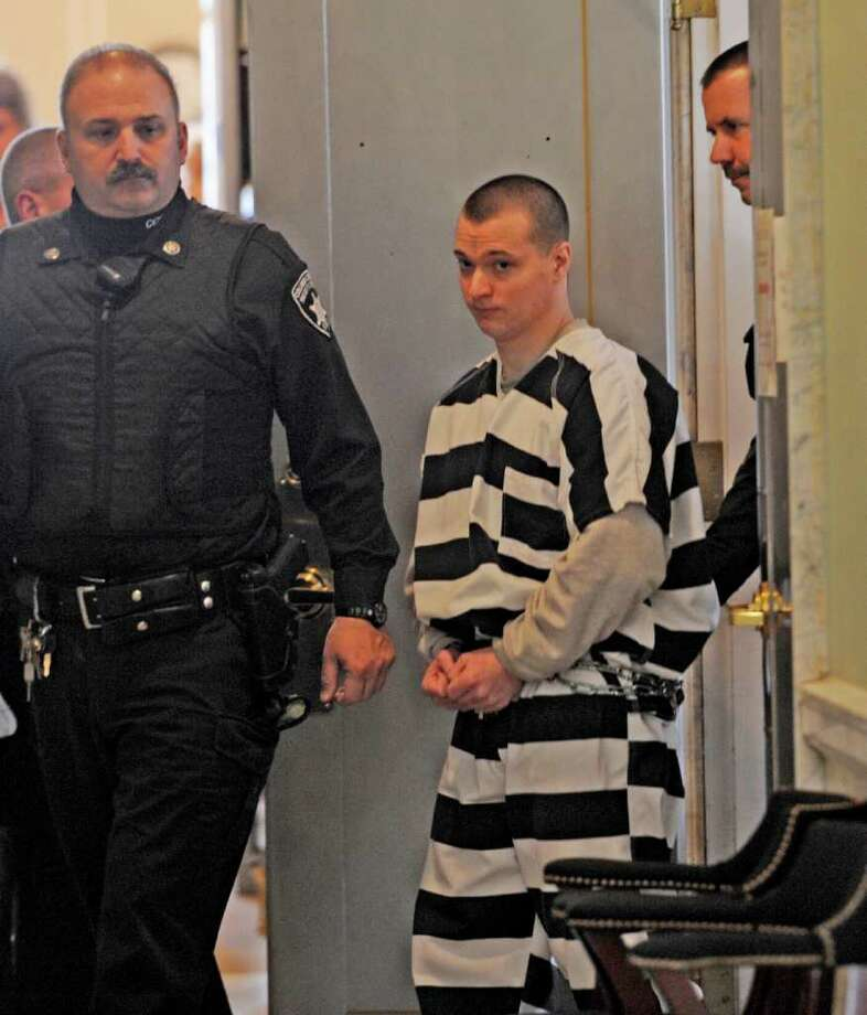 William Demagall is led from Judge Jonathan Nichols' courtroom in the Columbia County Courthouse in Hudson, where sentencing was postponed due to incorrect probation report January 25, 2011.   (Skip Dickstein / Times Union) Photo: SKIP DICKSTEIN / 2008