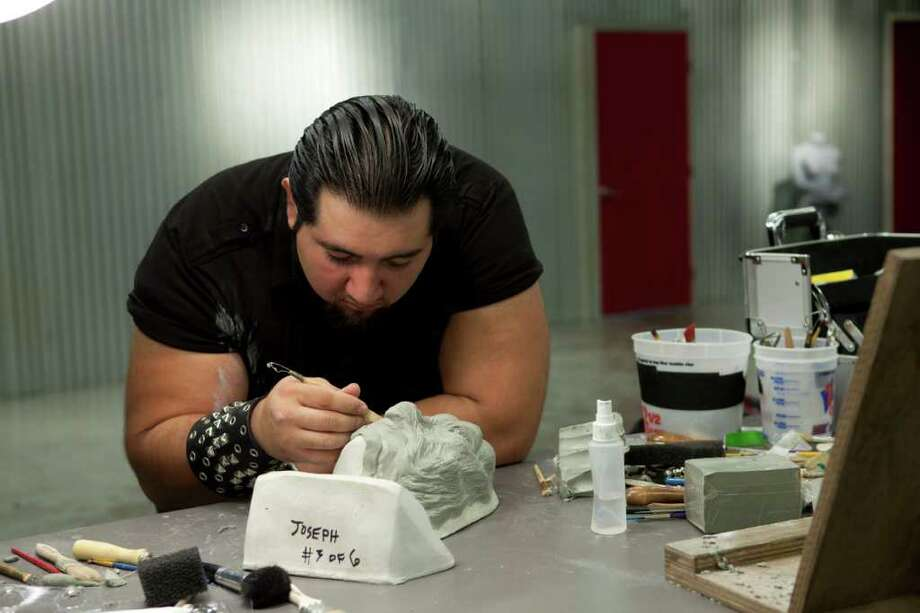 "Special effects artist Sergio Guerra of San Antonio is compeiting on the Syfy series ""Face Off."""