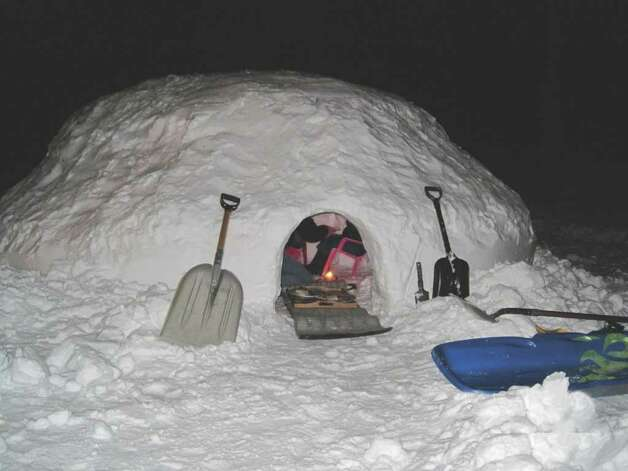 An exterior shot of the snow fort. Photo: Contributed Photo / Darien News
