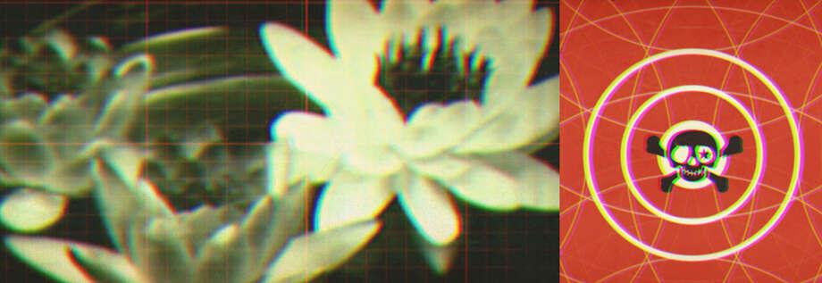 A still image from a onedotzero film screening at EMPAC.