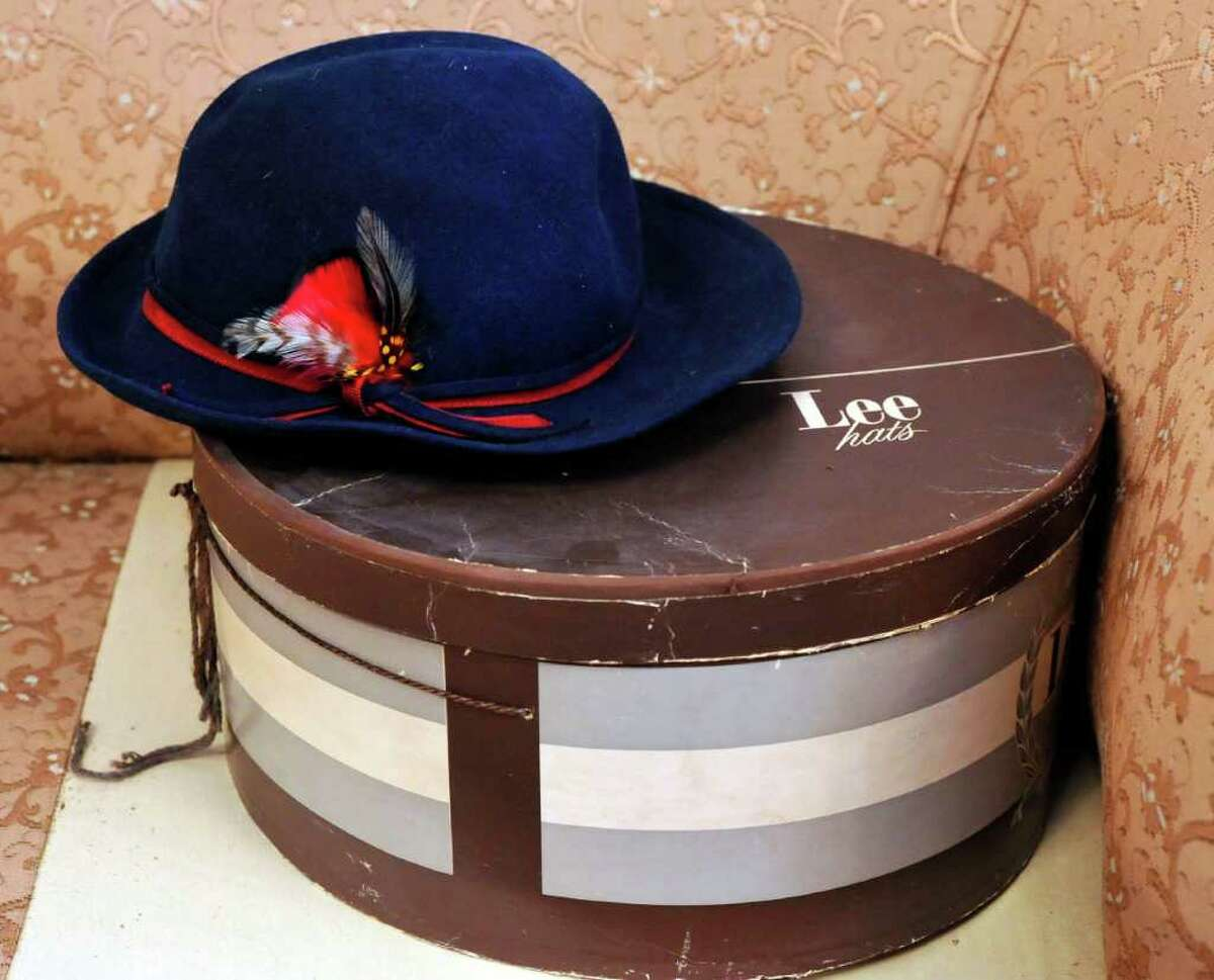Old hats and their boxes remind us of Danbury's past. Photographed Wednesday, Jan. 26, 2011.