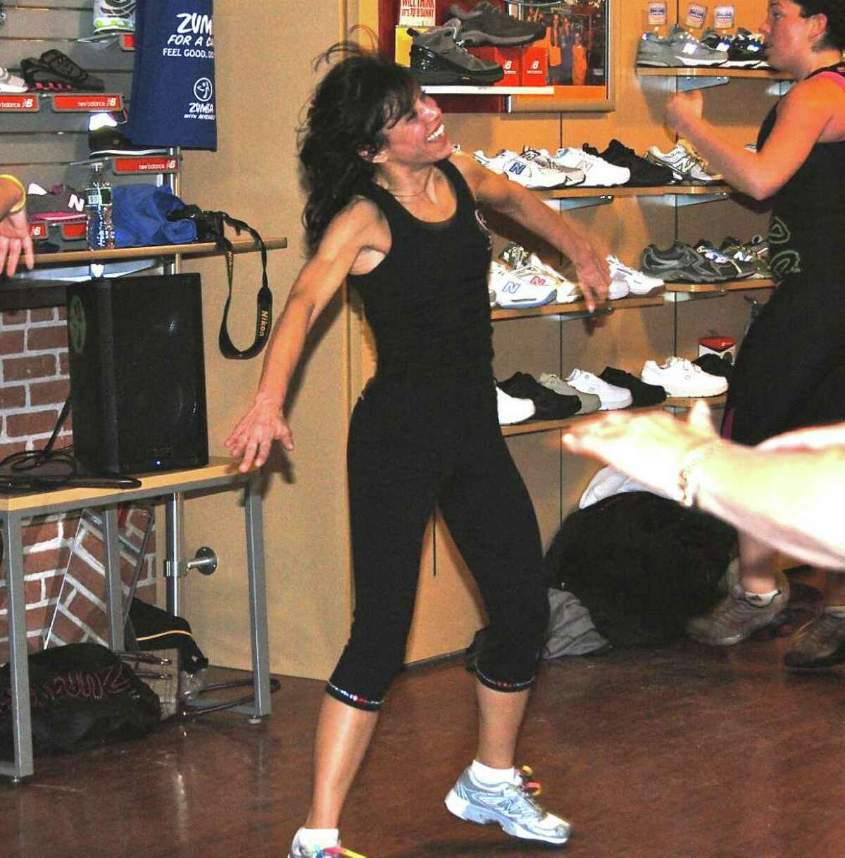 Certified instructor Michele Ayoub brought her Zumba For A Cause idea to New Balance owner Ron Rosenfeld who loved the idea.