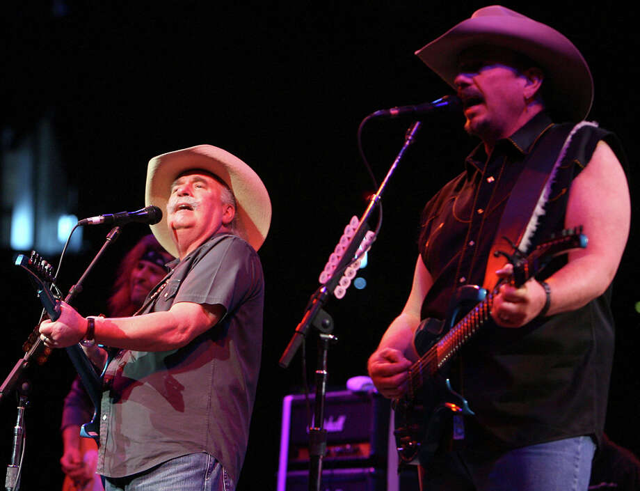 The Bellamy Brothers, Howard (left) and David, will perform on the SeaWorld main stage Saturday during the 15th annual San Antonio Stock Show & Rodeo Bar-B-Que Cook-off and Concert. Aaron Watson and a few other entertainers will also be there. EXPRESS-NEWS FILE PHOTO