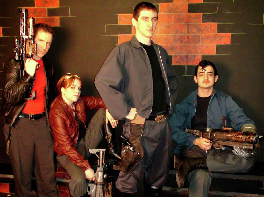 "The good guys in ""The Adventures of Captain Cortez and the Tri-Lambda Brigade"" are played by (from left) Joshua Gonzalez, Morgan Scharff, Cary Farrow and Alexander Berkowitz."