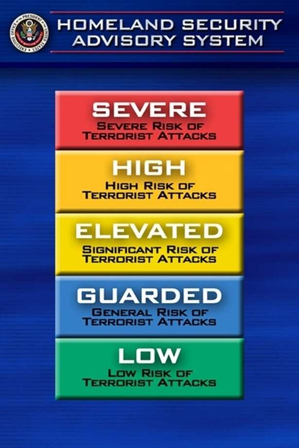 By April 27, the color-coded terror alert system will be nixed from U.S. airports. A national advisory system will replace the alert system. Photo provided by U.S. Department of Homeland Security