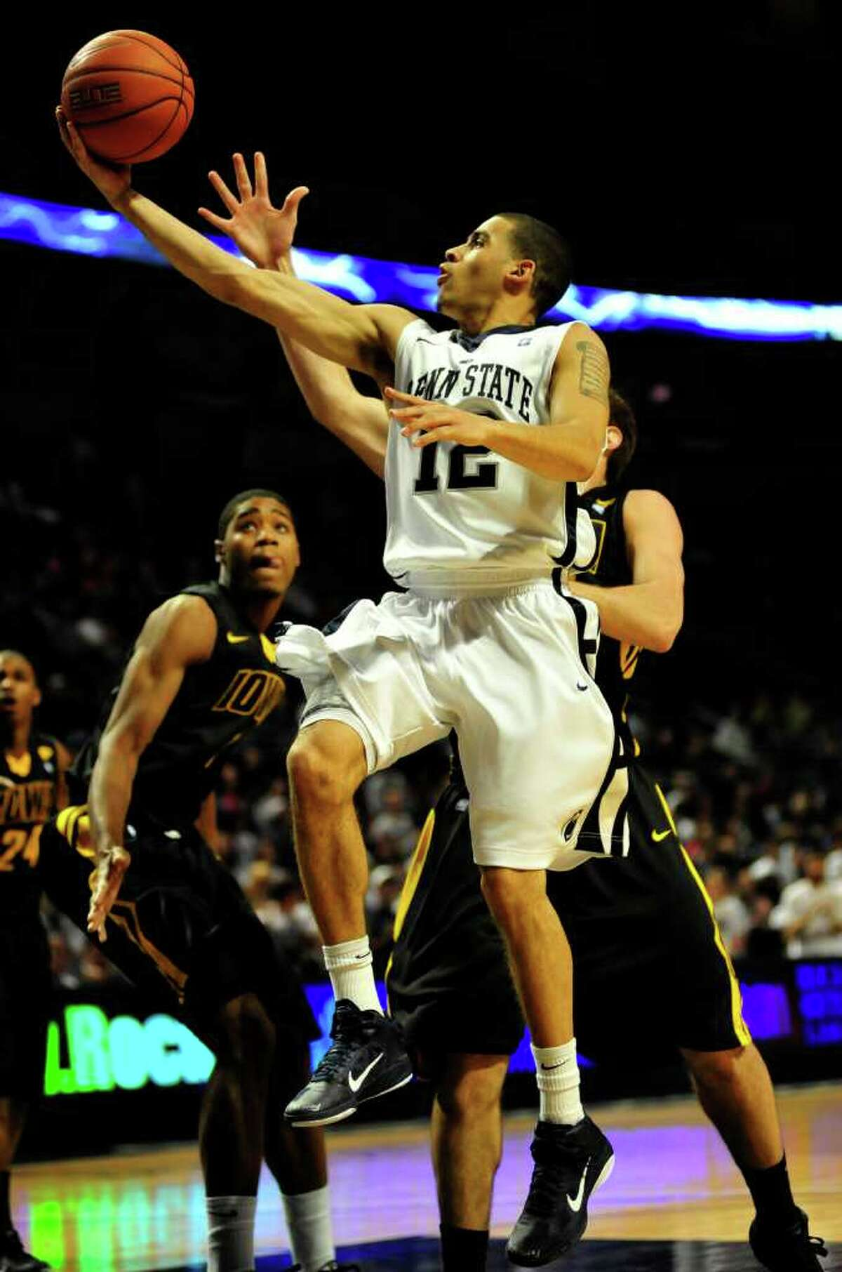 Penn State's Talor Battle shoots during the Iowa game Wednesday, Jan. 27, 2011. Penn State defeated Iowa 65-51. Centre Daily Times/Michelle Bixby