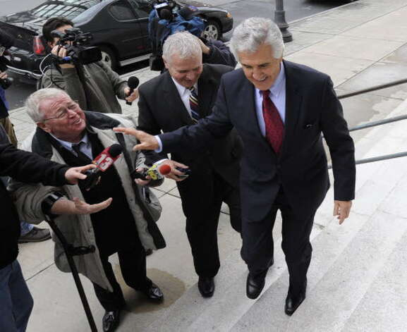 John McLoughlin, left, covers the Joseph L. Bruno trial. (File photo)