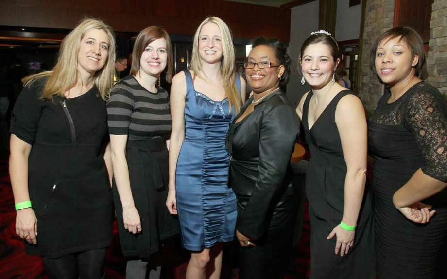 """From left: Julie Denardo Marino, Meredith Noonan, Valerie Myers, Pilar Arthur-Snead, Lauren Ciullo and Jenese Gaston Jan. 21, 2011 at Vapor Nightclub at the Saratoga Gaming and Raceway during """"Diamonds in the Rough,"""" a fundraiser to benefit Girl Inc. Cornerstone Group. (Joe Putrock / Special to the Times Union) Photo: Joe Putrock / Joe Putrock"""