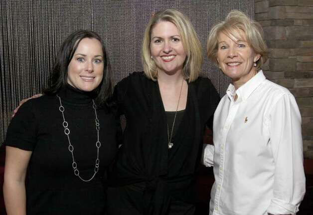 "From left: Time Warner Cable Media's Amy Babcock, Tara MacDonald and Cindy Applebaum Jan. 21, 2011 at Vapor Nightclub at the Saratoga Gaming and Raceway during ""Diamonds in the Rough,"" a fundraiser to benefit Girl Inc. Cornerstone Group. (Joe Putrock / Special to the Times Union) Photo: Joe Putrock / Joe Putrock"