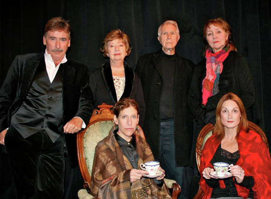 """Key cast members of the Theatre Artists Workshop of Westport's production of the 19th Century drama """"The Heiress"""" pose for a group portrait. Seated, from lefrt, aree Katie Sparer and Leigh Katz. Standing, from left, are Mark Basile, Jo Anne Parady, James Noble and Florence Phillips. Photo: Contributed Photo / Westport News"""