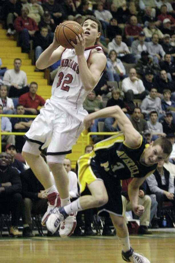 Glens Falls' Jimmer Fredette takes the ball to the basket against Averill Park on Mar. 6,2007. Photo: JAMES GOOLSBY / ALBANY TIMES UNION