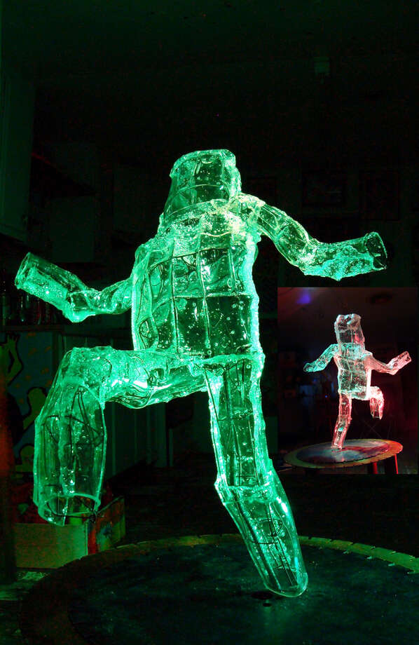 Illuminated figures by George Pompa will be part of a Luminaria installation this March. COURTESY GEORGE POMPA