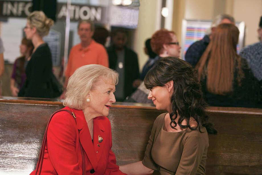 "Betty White and Jennifer Love Hewitt star in ""The Lost Valentine."" COURTESY CBS"