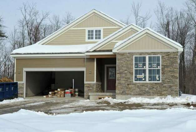 A nearly completed house at the Brookefield Place development in Halfmoon, NY on January 28, 2011. (Lori Van Buren / Times Union) Photo: Lori Van Buren