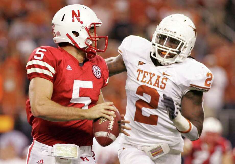 Defensive end Sergio Kindle (right) was the best producer in Texas' 2006 class. Photo: AMY GUTIERREZ, ASSOCIATED PRESS