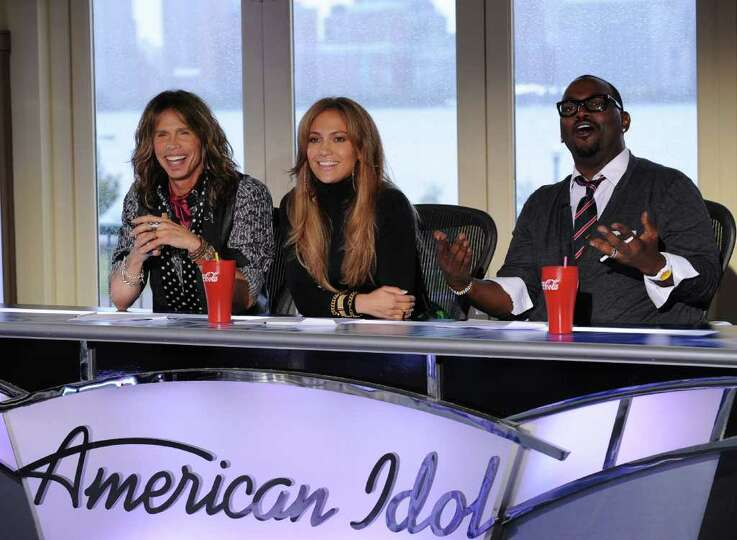 AMERICAN IDOL: New York / New Jersey auditions: L-R: Season 10 Judges Steven Tyler, Jennifer Lopez a