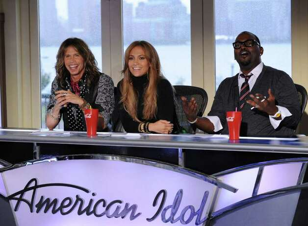 AMERICAN IDOL: New York / New Jersey auditions: L-R: Season 10 Judges Steven Tyler, Jennifer Lopez and Randy Jackson on AMERICAN IDOL airing Wednesday, Jan. 19 (8:00-10:00 PM ET/PT) on FOX. CR: Michael Becker / FOX / DirectToArchive