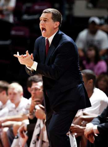 Texas A&M coach Mark Turgeon reacts to a play during the first half against Texas on Monday, Jan. 31, 2011, in College Station. Photo: JON EILTS, ASSOCIATED PRESS