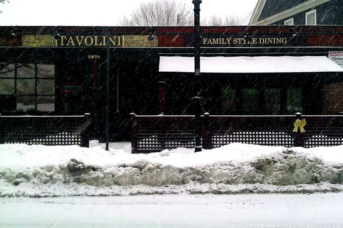 Café Tavolini, 3074 Fairfield Ave. in Bridgeport. The restaurant is being investigated by the Attorney General's office for closing just after the holiday gift certificate rush. An episode of Fox television series Kitchen Nightmares filmed there in December.