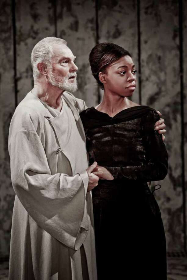 "Derek Jacobi and Pippa Bennett in a scene from the Donmar Warehouse production of ""King Lear"" that will be transmitted from London to Fairfield University's Quick Center on Thursday Feb. 3, with an encore on Friday Feb. 11. Photo: Contributed Photo / Connecticut Post Contributed"