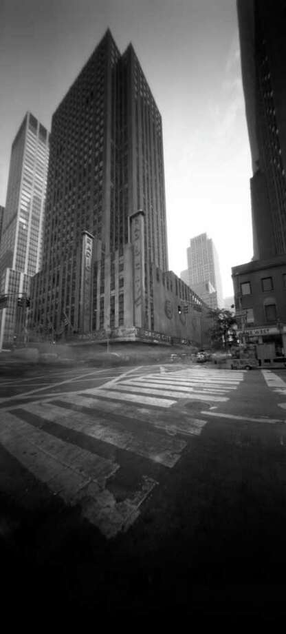 Westport fine arts photographer Michael Elsden created this image of Radio City Music Hall in New York City with the use of a pinhole camera, a topic he covered in a recent workshop at the Westport Arts Center. He returns Saturday, Feb. 5, with a workshop for children 7 to 12 on another form of photography, camera obscura. Photo: Contributed Photo / Stamford Advocate Contributed
