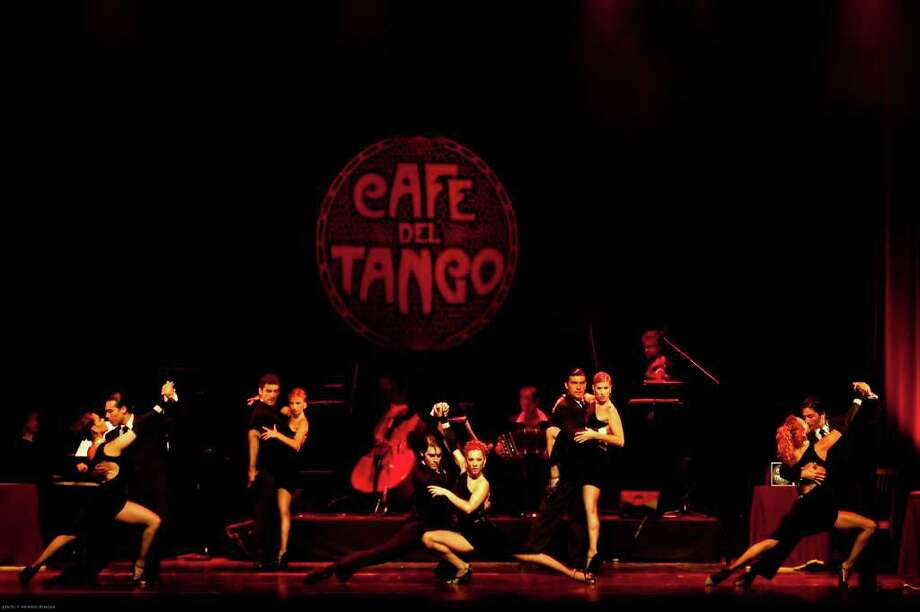 Tango Inferno dancers gather onstage, led by principal choreographer Yanina Fajar. The Buenos Aires-based group will present 'The Fire Within,' at 8 p.m., Saturday, Feb. 5, at the Palace Theatre in Stamford. Photo: Contributed Photo / Stamford Advocate Contributed