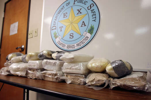"Feb. 1, 2011: ""That's a lot of dope,"" Jerry Robinette, special agent in charge of ICE's Homeland Security Investigations in San Antonio, said of the methamphetamine seized Monday. Photo: Helen L. Montoya/hmontoya@express-news.net"