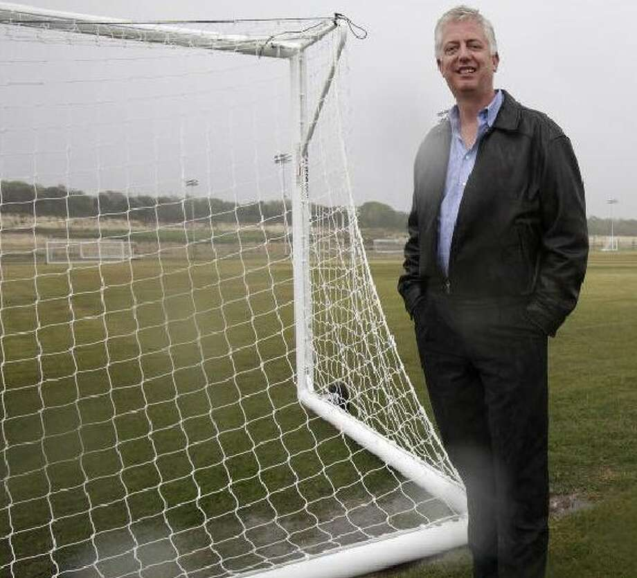 Gordon Hartman poses in 2009 at the STAR Soccer Complex at Thousand Oaks and Wurzbach Parkway. Photo: JERRY LARA/glara@express-news.net