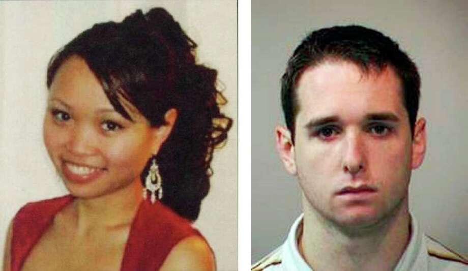 In this combination of photos, Annie Le, left, and Raymond Clark, III are shown. A lawyer for the family of a slain Yale University graduate student says they are considering suing the school over its hiring of the suspect and the way Yale officials looked into her disappearance. Attorney Brian King said Wednesday, Sept. 8, 2010 that slaying victim Annie Le's family is questioning whether Yale officials properly investigated suspect Raymond Clark III's background before hiring him for a technician's job at a lab building where Le also worked. (AP Photo) Photo: Anonymous, ST / New Haven Offciails