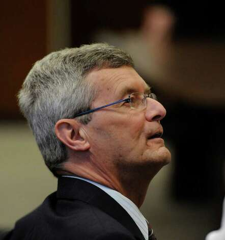 Former priest Gary Mercure listens to testimony during his trial. Mercure was convicted Thursday of sexually abusing two boys in the 1980s.  (Skip Dickstein / Times Union archive) Photo: SKIP DICKSTEIN / 2008