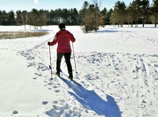 Carla Metz of Wilton starts out on a morning cross country ski at Saratoga Spa State Park Thursday February 3, 2011.  (John Carl D'Annibale / Times Union) Photo: John Carl D'Annibale
